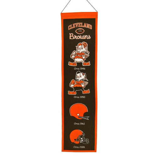 Cleveland Browns Wool NFL Heritage Banner - Dynasty Sports & Framing