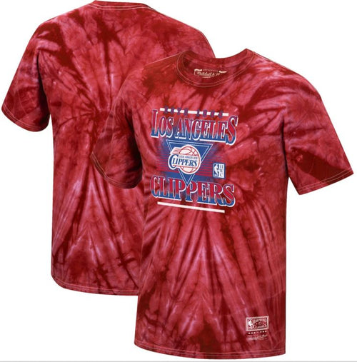 Los Angeles Clippers Mitchell & Ness Tie Dye Elevate T-Shirt - Dynasty Sports & Framing