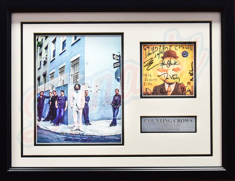 Counting Crows Autographed Framed CD Case & Photo Collage - Dynasty Sports & Framing