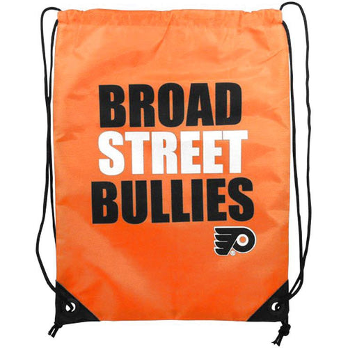 Philadelphia Flyers Broad Street Bullies Drawstring Backpack - Dynasty Sports & Framing