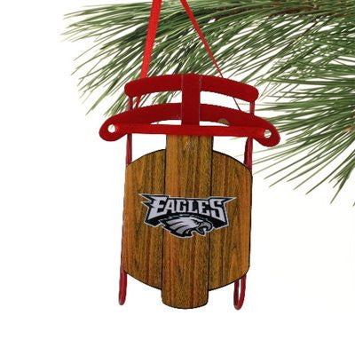 Philadelphia Eagles Metal Sled Holiday Ornament - Dynasty Sports & Framing  - 1