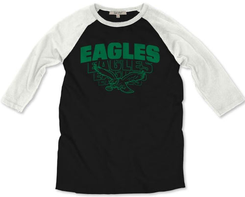 Philadelphia Eagles Throwback Raglan Shirt Junk Food Brand - Dynasty Sports & Framing