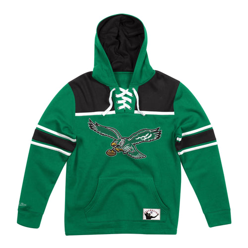 Philadelphia Eagles Mitchell & Ness Football Hoodie - Dynasty Sports & Framing