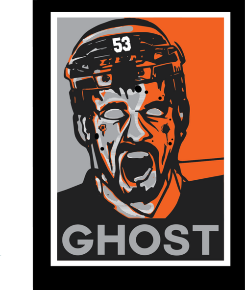 "Shayne Gostisbehere ""Ghost Zombie"" Philadelphia Flyers Hockey T-Shirt (Dynasty Sports Exclusive) - Dynasty Sports & Framing"
