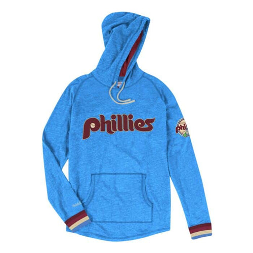 Philadelphia Phillies Powder Blue Mitchell & Ness Lightweight Hoodie