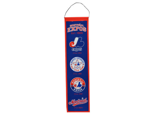 Montreal Expos Wool MLB Baseball Heritage Banner - Dynasty Sports & Framing