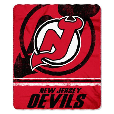 "New Jersey Devils 50""x60"" Marque Fleece Blanket - Dynasty Sports & Framing"