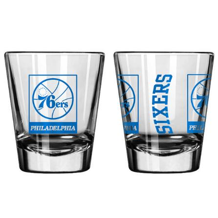 Philadelphia 76ers NBA Basketball Game Day Shot Glass - Dynasty Sports & Framing