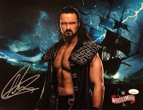 Drew McIntyre WrestleMania Collage Autographed WWE Wrestling Photo - Dynasty Sports & Framing