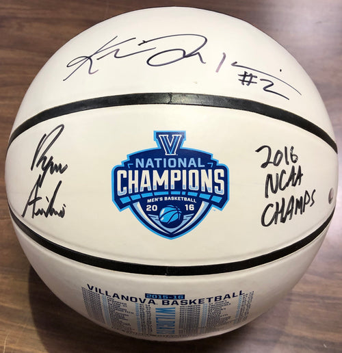 Ryan Arcidiacono & Kris Jenkins Villanova Wildcats Autographed 2016 White-Panel Schedule Basketball - Dynasty Sports & Framing