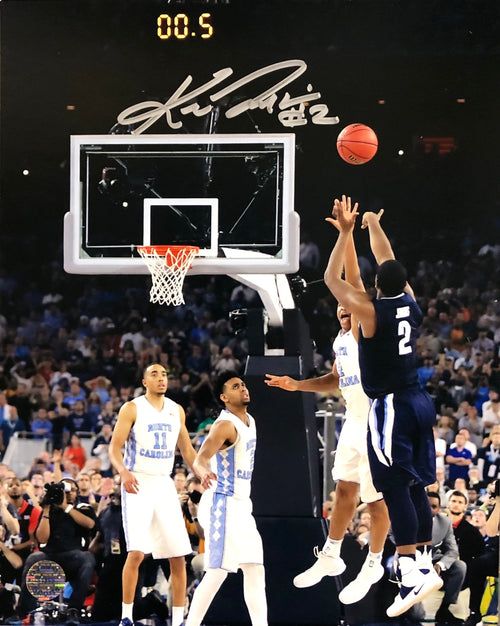 Kris Jenkins Villanova Wildcats 2016 NCAA Champions Buzzer Beater Autographed Vertical Photo - Dynasty Sports & Framing