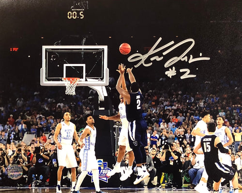 Kris Jenkins Villanova Wildcats 2016 NCAA Champions Buzzer Beater Autographed Horizontal Photo - Dynasty Sports & Framing