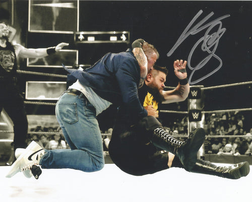 Kevin Owens Autographed WWE Wrestling Stunning Shane McMahon Photo - Dynasty Sports & Framing