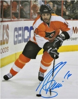 "Ian Laperriere In Action Philadelphia Flyers Autographed NHL Hockey 8"" x 10"" Photo - Dynasty Sports & Framing"