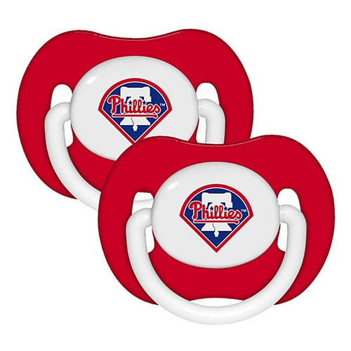 Philadelphia Phillies MLB Baseball 2 Pack Baby Pacifiers - Dynasty Sports & Framing