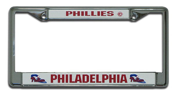 Philadelphia Phillies Chrome License Plate Frame - Dynasty Sports & Framing