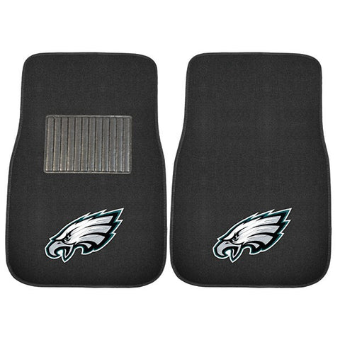 Philadelphia Eagles NFL 2 Piece Embroidered Car Mat Set