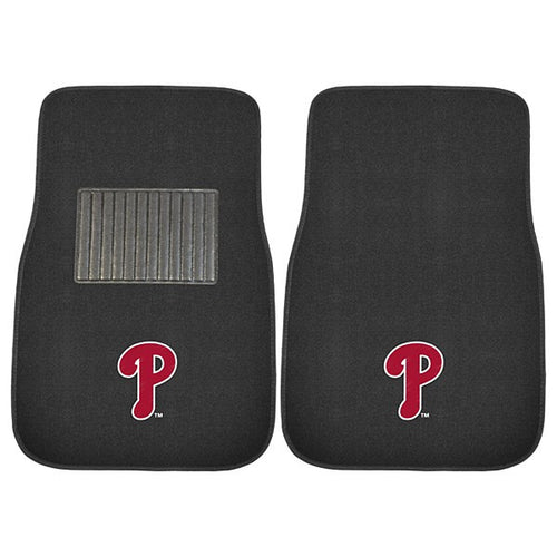 Philadelphia Phillies MLB Baseball 2 Piece Embroidered Car Mat Set - Dynasty Sports & Framing