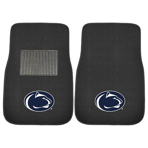 Penn State Nittany Lions NCAA College 2 Piece Embroidered Car Mat Set - Dynasty Sports & Framing