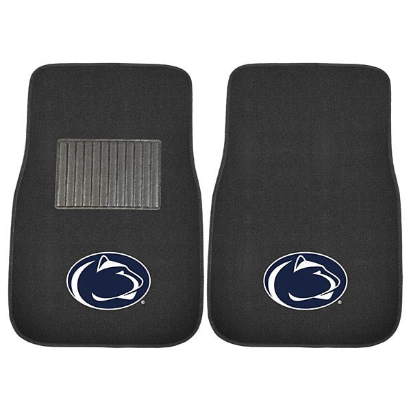 Penn State Nittany Lions NCAA College 2 Piece Embroidered Car Mat Set