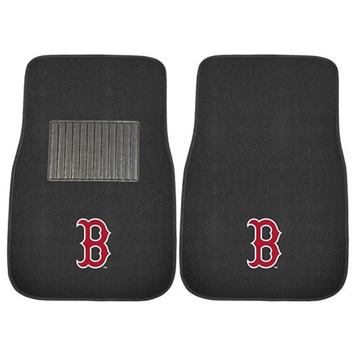 Boston Red Sox MLB Baseball 2 Piece Embroidered Car Mat Set - Dynasty Sports & Framing