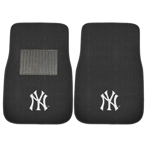 New York Yankees MLB Baseball 2 Piece Embroidered Car Mat Set - Dynasty Sports & Framing
