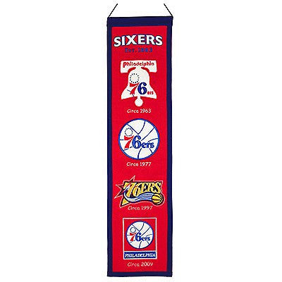 Philadelphia 76ers Heritage Banner - Dynasty Sports & Framing