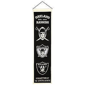 Oakland Raiders Heritage Banner - Dynasty Sports & Framing