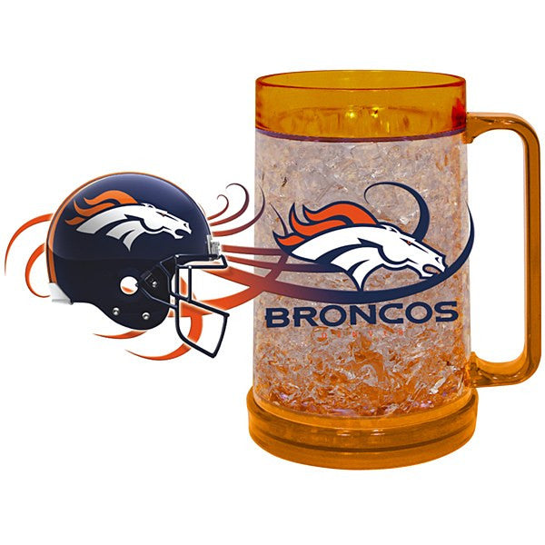 Denver Broncos  Full Color Freezer Mug - Dynasty Sports & Framing