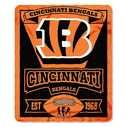 "Cincinnati Bengals NFL Football 50"" x 60"" Marque Fleece Blanket - Dynasty Sports & Framing"