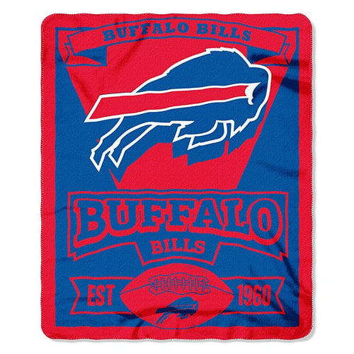 "Buffalo Bills NFL Football 50"" x 60"" Marque Fleece Blanket - Dynasty Sports & Framing"