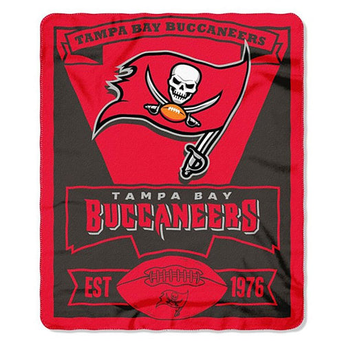 "Tampa Bay Buccaneers NFL Football 50"" x 60"" Marque Fleece Blanket - Dynasty Sports & Framing"