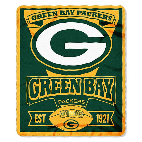 "Green Bay Packers NFL Football 50"" x 60"" Marque Fleece Blanket - Dynasty Sports & Framing"