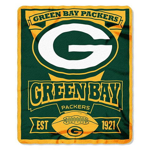 "Green Bay Packers NFL 50""x60"" Marque Fleece Blanket"