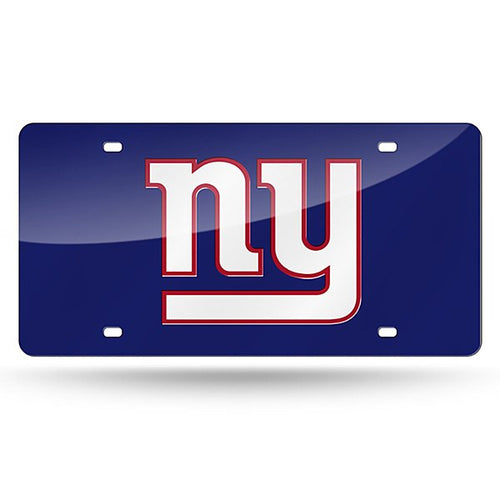 New York Giants NFL Laser Cut License Plate (Blue) - Dynasty Sports & Framing