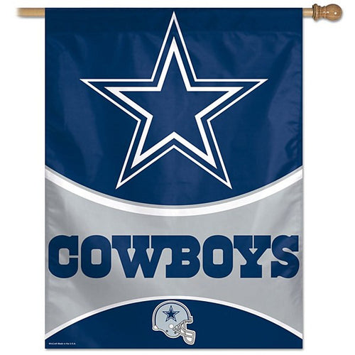 "Dallas Cowboys NFL 27"" X 37"" Vertical Flag - Dynasty Sports & Framing"