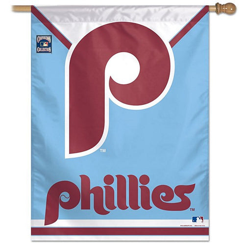 "Philadelphia Phillies Retro 27"" X 37"" Vertical Flag - Dynasty Sports & Framing"