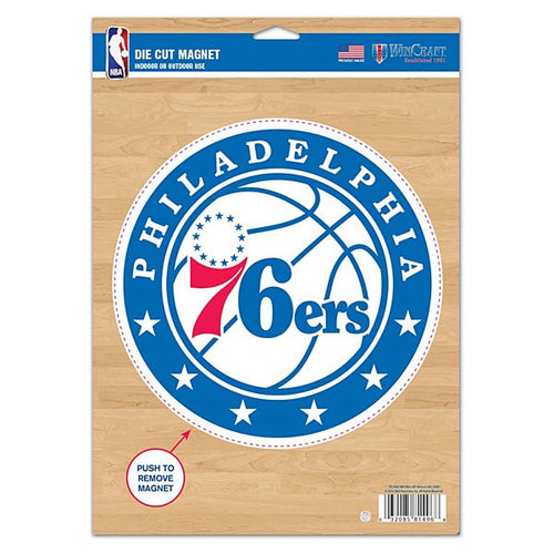 "Philadelphia 76ers NBA Basketball 8"" Die-Cut Magnet - Dynasty Sports & Framing"