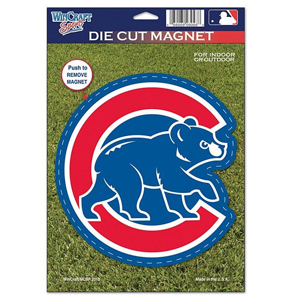 "Chicago Cubs MLB Baseball 8"" Die-Cut Magnet - Dynasty Sports & Framing"