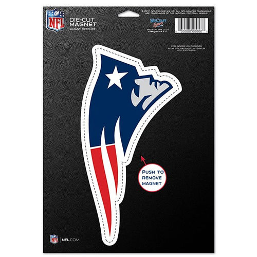 "New England Patriots NFL Football 8"" Die-Cut Magnet"