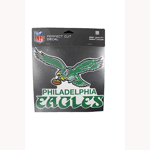"Philadelphia Eagles NFL Football 8"" x 8"" Retro Decal"