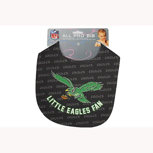 Philadelphia Eagles Retro NFL Football Baby Bib - Dynasty Sports & Framing