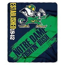 "University of Notre Dame Fighting Irish Marquese 50""x60"" Fleece Blanket - Dynasty Sports & Framing"