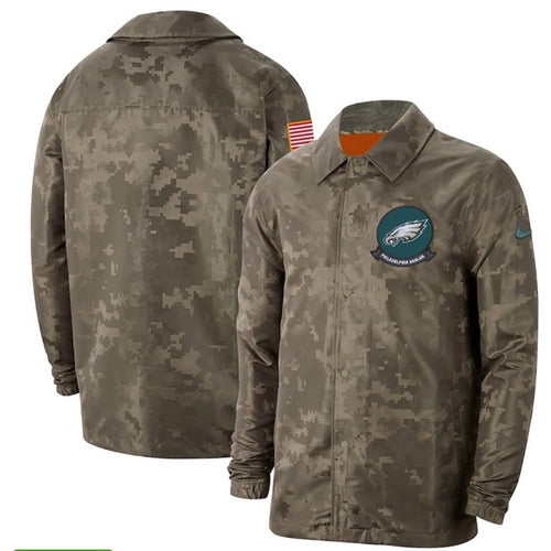 Philadelphia Eagles Nike Camo Salute To Service Jacket - Dynasty Sports & Framing