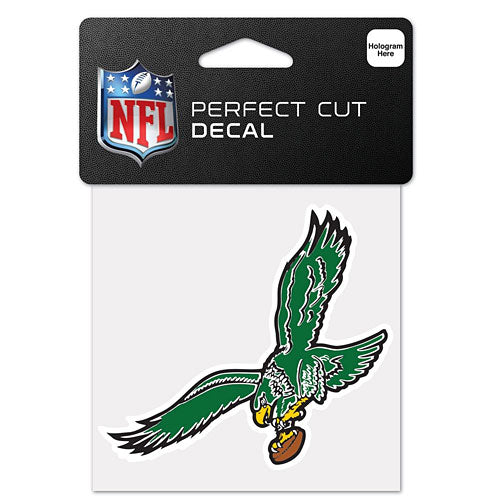 "Philadelphia Eagles Throwback NFL Football 4"" x 4"" Decal - Dynasty Sports & Framing"