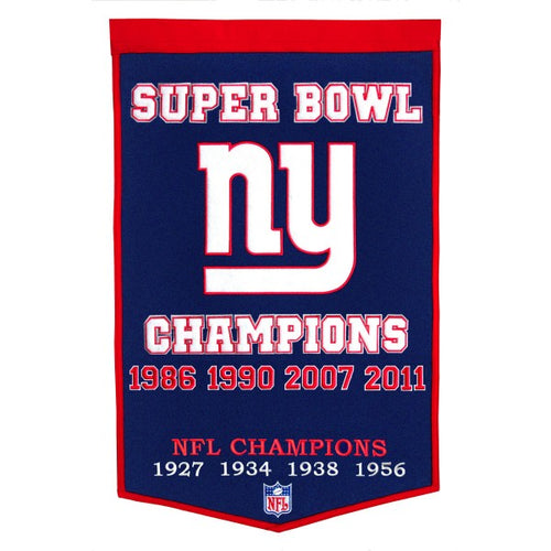 New York Giants NFL Super Bowl Dynasty Banner - Dynasty Sports & Framing