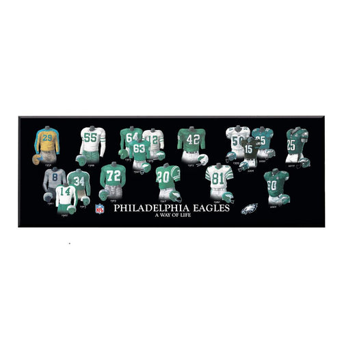 Philadelphia Eagles Legacy Uniform Wood Plaque - Dynasty Sports & Framing