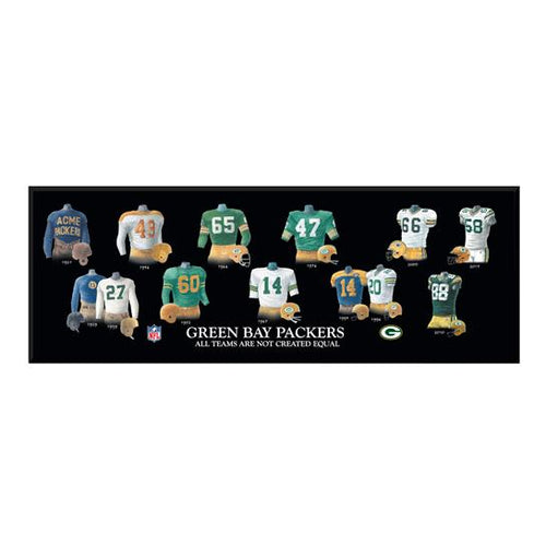Green Bay Packers Legacy Uniform Wood Plaque