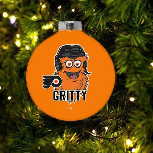 Gritty Flyers Christmas Holiday Ball  Ornament - Dynasty Sports & Framing