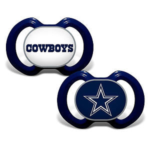 Dallas Cowboys NFL Football 2 Pack Baby Pacifiers - Dynasty Sports & Framing